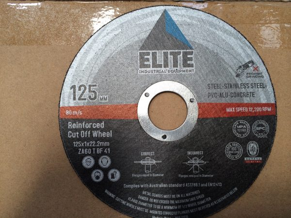 Elite Cutting Disc: 125 x 1.0 x 22.2mm