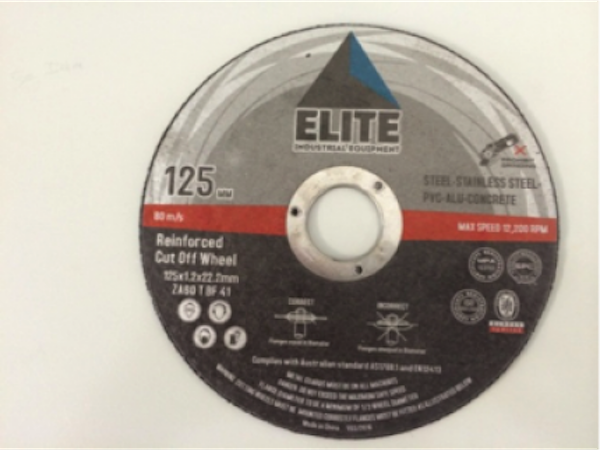 Elite Cutting Disc: 125 x 1.2 x 22.0mm