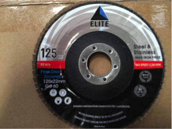 Elite 125 x 22.0 x 60 Grit Flap Disc Zirconic