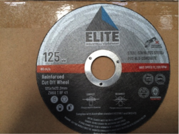 Elite 125 x 6.0 x 22.0mm Grinding Disc